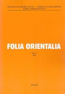 Folia-Orientalia