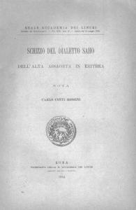 Conti Rossini_Schizzo_cover